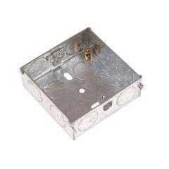 SMJ Metal Back Box 1 Gang 16mm Depth - Carded - SMJMBS16C