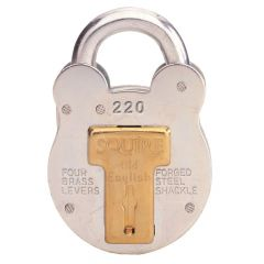 Squire 220 - Old English - Small Galvanised Steel Padlock - 4 Lever