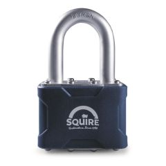 Squire 39/1.5 - Stronglock Pin Tumbler 50mm Laminated Double Locking Padlock - Long Shackle 1.5""