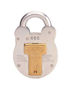Squire 660KA - Old English - Large Galvanised Steel Padlock - 4 Lever - Keyed Alike