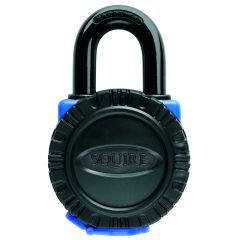 Squire ATL4KA - All Terrain Weatherproof 40mm Padlock - Hardened Brass Open Shackle - Keyed Alike
