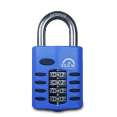 Squire CP50S - Weather Resistant 50mm Combination Padlock - 4 wheel - SS Open Shackle