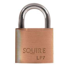 Squire LP7 - Leopard Range - 25mm Solid Brass Padlock - Open Shackle