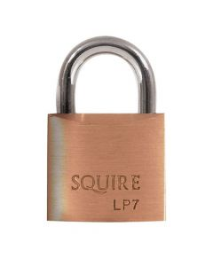 Squire LP7KA - Leopard Range - 25mm Solid Brass Padlock - Open Shackle - Keyed Alike