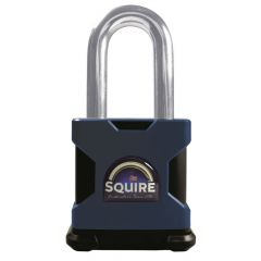 "Squire SS65E/2.5 - Stronghold 65mm Hardened Steel Padlock (Body Only) - Long Shackle 2.5"" - Accepts any Modified 71mm Double Euro Cylinder"