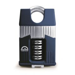 Squire Warrior 45mm Combination padlock - 4 Wheel - Closed Shackle