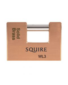 Squire WL3 - Warehouse Lock Range - Large 90mm Brass Block Padlock