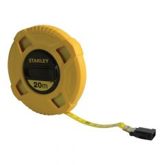 Stanley Closed Case Fibreglass Long Tape 20m (Width 13mm) - STA034296