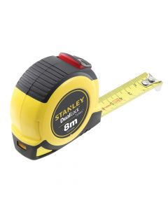 Stanley DualLock Tylon Pocket Tape 8m (Width 25mm) (Metric only) - STA036804