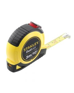 Stanley DualLock Tylon Pocket Tape 3m/10ft (Width 12mm) - STA036805
