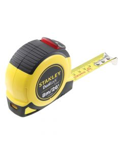 Stanley DualLock  Tylon Pocket Tape 8m/26ft (Width 25mm) - STA036807