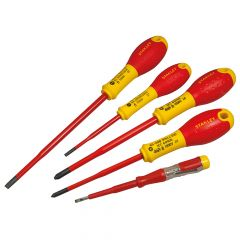 Stanley FatMax VDE Insulated Screwdriver Set of 5 Plusminus - STA062694