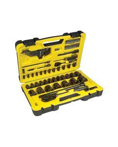 Stanley Tech 3 Socket Set of 78 1/4in & 1/2in Drive - STA072655