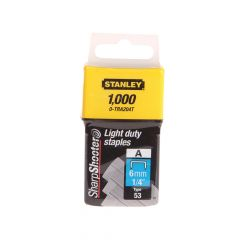 Stanley TRA2 Light-Duty Staple 6mm TRA204T Pack 1000 - STA0TRA204T