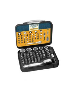 Stanley 175th Anniversary 1/4in Mixed Socket Set, 39 Piece - STA182834