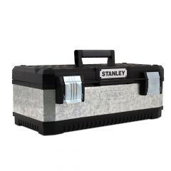 Stanley Galvanised Metal Toolbox 58cm (23in) - STA195619