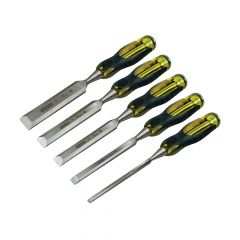 Stanley FatMax Bevel Edge Chisel With Thru Tang Set of 5 - STA216269