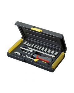 Stanley MicroTough Socket Set of 17 Metric 1/4in Drive - STA285582