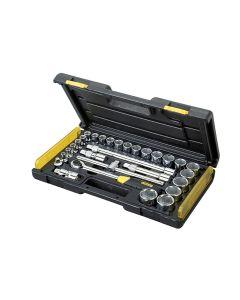 Stanley MicroTough Socket Set of 29 Metric 1/2in Drive - STA285584