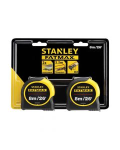 Stanley FatMax Classic Tape Twin Pack 8m/26ft (Width 32mm) - STA581558