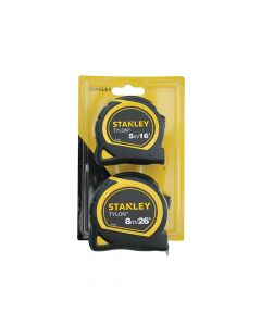 Stanley Tylon Pocket Tapes 5m/16ft + 8m/26ft (Twin Pack) - STA998985