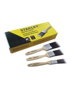 Stanley Max Finish Advanced Synthetic Paint Brush Set of 3 25, 38 & 50mm - STASTPPSS0S