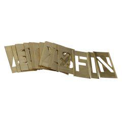 Stencils Set of Brass Interlocking Stencils - Letters 2in - STNL2LB
