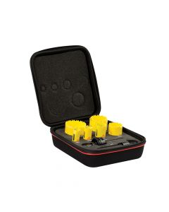Starrett Deep Cut Bi-Metal Plumber's Holesaw Kit 9 Piece - STRKDC07021