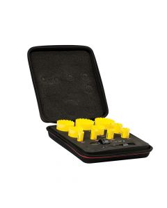 Starrett Deep Cut Bi-Metal Deluxe Electrician's Holesaw Kit 12 Piece - STRKDC10021