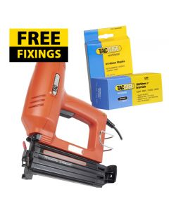 Tacwise Duo 50 Pro Electric Nail / Staple Gun - Comes with 1,000 40mm Staples & 5,000 50mm Nails FREE - 1166