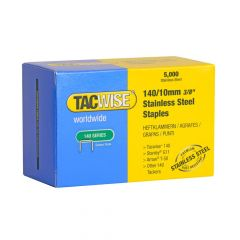 Tacwise Type 140 - 10mm Stainless Steel Staples (5,000 Pack) - 0477