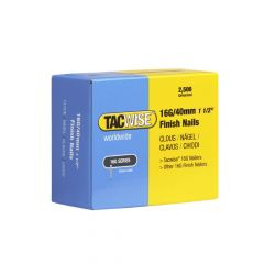 Tacwise Type 16G - 40mm Finish Nails (2,500 Pack) - 0319