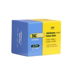 Tacwise Type 16G - 64mm Finish Nails (2,500 Pack) - 0301