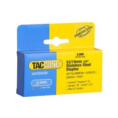 Tacwise Type 53 - 10mm Stainless Steel Staples (2,000 pack) - 1270