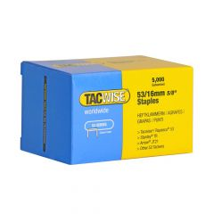 Tacwise Type 53 - 16mm Staples (5,000 pack) - 0453