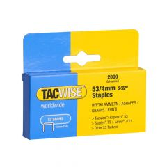 Tacwise Type 53 - 4mm Staples (2,000 pack) - 0333