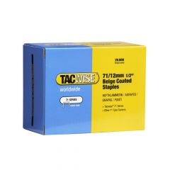 Tacwise Type 71 - 12mm Beige Staples (20