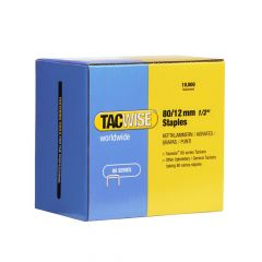 Tacwise Type 80 - 12mm Staples (10,000 Pack) - 0384