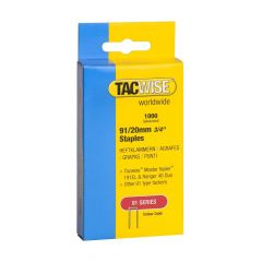 Tacwise Type 91 - 20mm Staples (1,000 Pack) - 0284