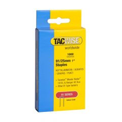 Tacwise Type 91 - 25mm Staples (1,000 Pack) - 0285