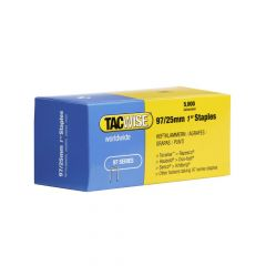 Tacwise Type 97 - 25mm Narrow Crown Staples (5,000 Pack) - 0305
