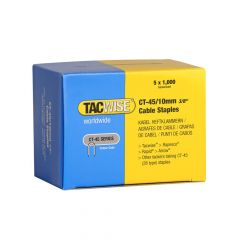 Tacwise Type CT-45 - 10mm Cable Staples (5,000 Pack) - 0352