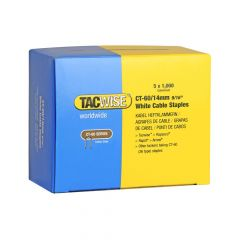 Tacwise Type CT-60 - 14mm white Cable Staples (5,000 Pack) - 0357