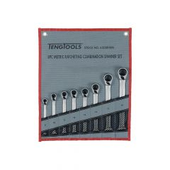Teng Ratchet Combination Spanner Set 8 Piece Metric - TEN6508RMM