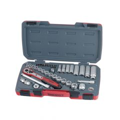 Teng Socket Set of 39 Metric 3/8in Drive - TENT3839
