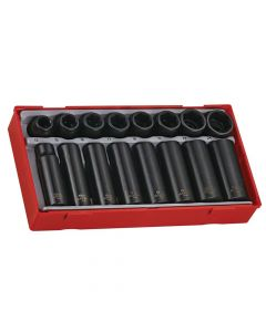 Teng 16 Piece Regular/ Deep Impact Socket Set 1/2in Drive - TENTT9116