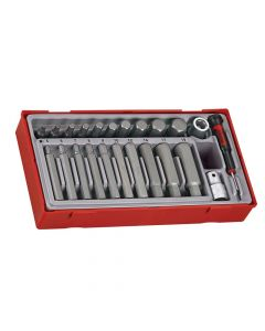 Teng 23 Piece Metric Hex Bit Socket Set - TENTTHEX23
