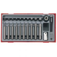 Teng 23 Piece TX Bit Socket Set - TENTTTX23