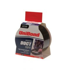 Unibond Duct Tape Black 50mm x 50m - UNI1405198