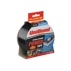 Unibond Powertape Black 50mm x 25m + 20% free - UNI1418625